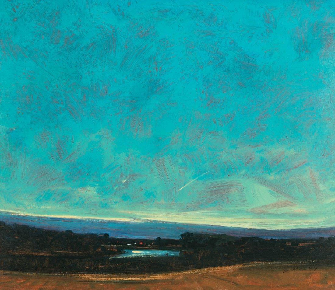 DAVID MELBY (1942-2014) OIL ON ARTIST'S BOARD