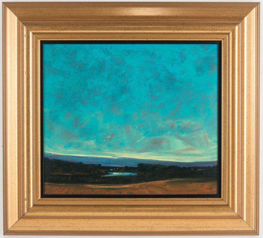 DAVID MELBY (1942-2014) OIL ON ARTIST'S BOARD - 2