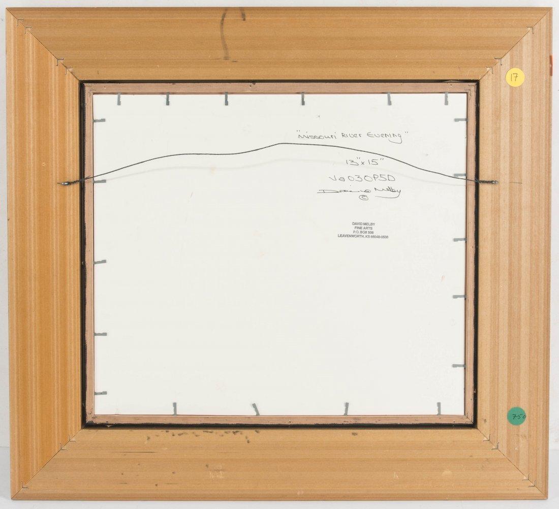DAVID MELBY (1942-2014) OIL ON ARTIST'S BOARD - 7