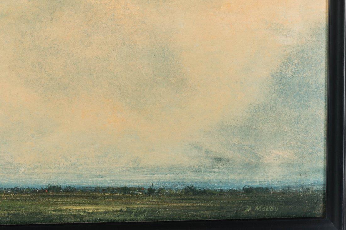 DAVID MELBY (1942-2014) OIL ON ARTIST'S BOARD - 5