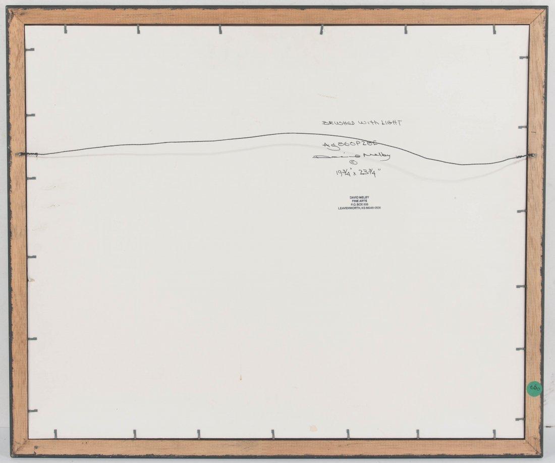 DAVID MELBY (1942-2014) OIL ON ARTIST'S BOARD - 8