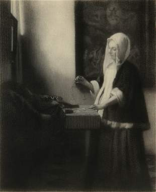 TIMOTHY COLE (1852-1931) ETCHING AFTER VERMEER