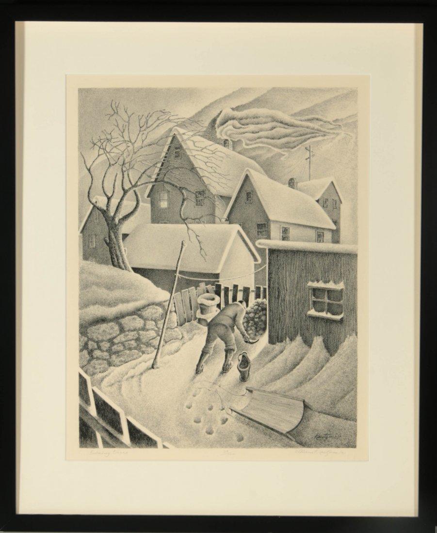 WILLIAM F. KAUTZMAN (1916- ) PENCIL SIGNED LITHOGRAPH - 10