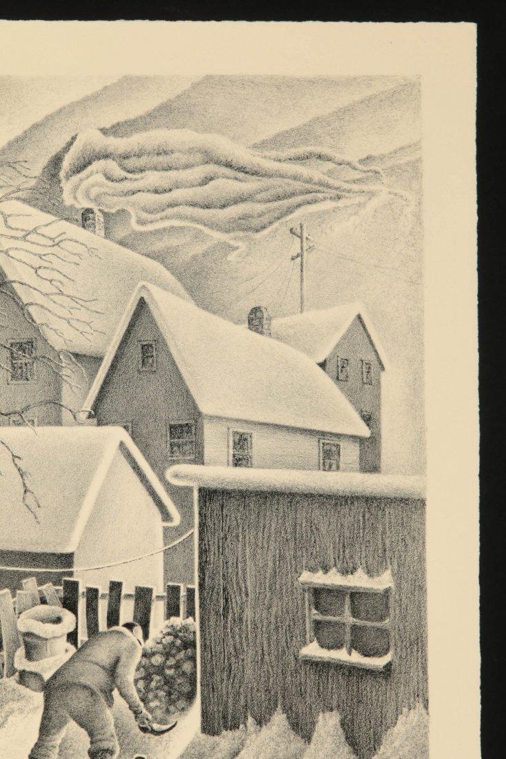 WILLIAM F. KAUTZMAN (1916- ) PENCIL SIGNED LITHOGRAPH - 4