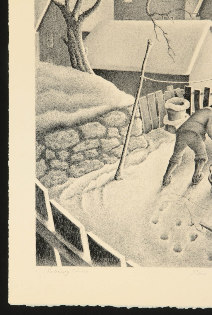 WILLIAM F. KAUTZMAN (1916- ) PENCIL SIGNED LITHOGRAPH - 6
