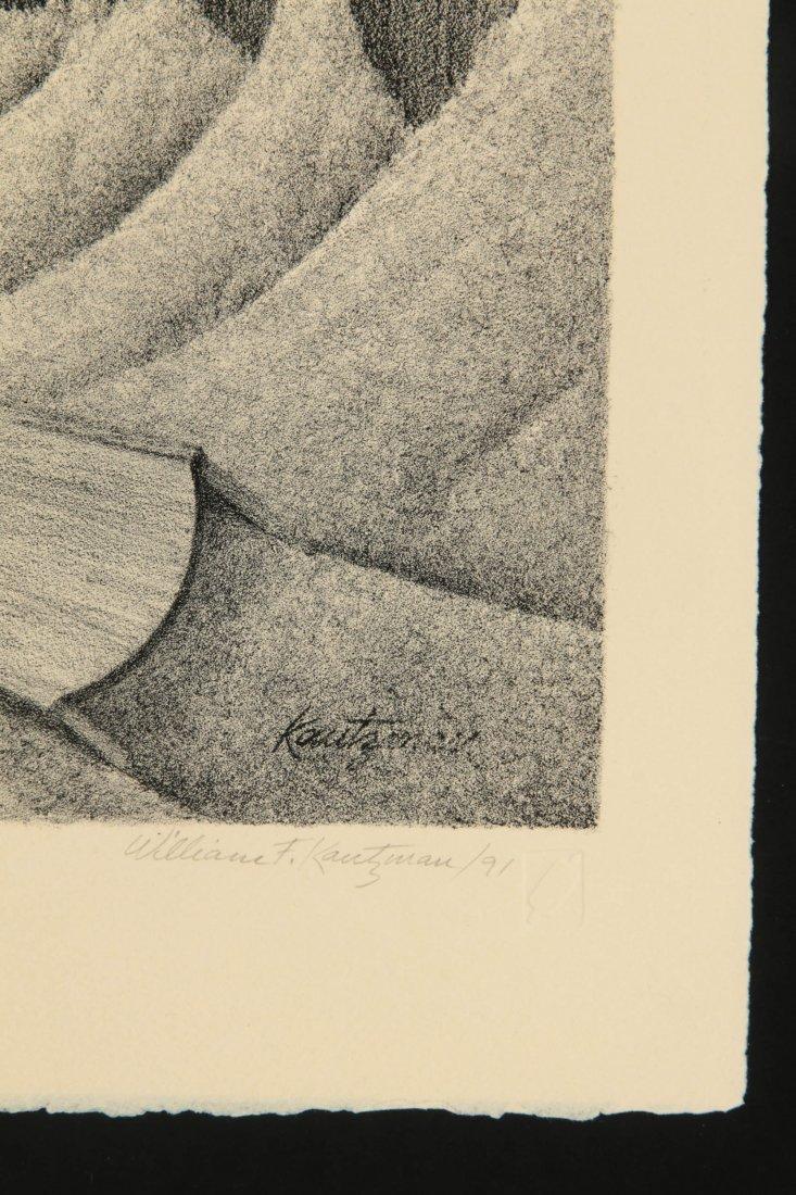 WILLIAM F. KAUTZMAN (1916- ) PENCIL SIGNED LITHOGRAPH - 7