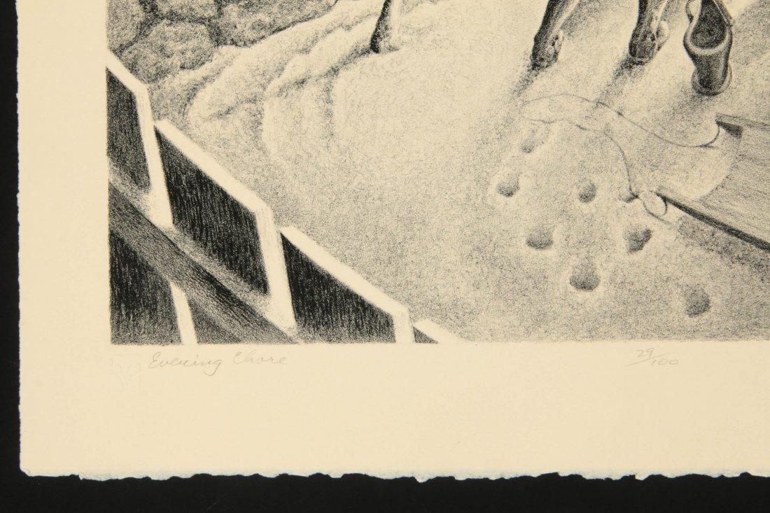 WILLIAM F. KAUTZMAN (1916- ) PENCIL SIGNED LITHOGRAPH - 8