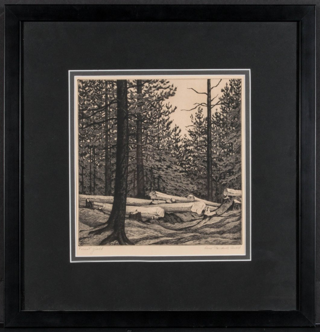 ALICE BUELL (1892-1964) PENCIL SIGNED ETCHING - 10