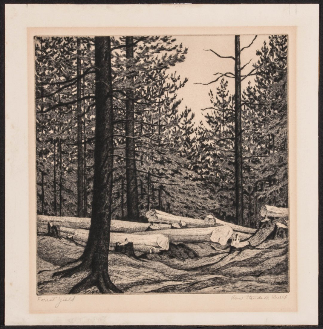 ALICE BUELL (1892-1964) PENCIL SIGNED ETCHING - 2