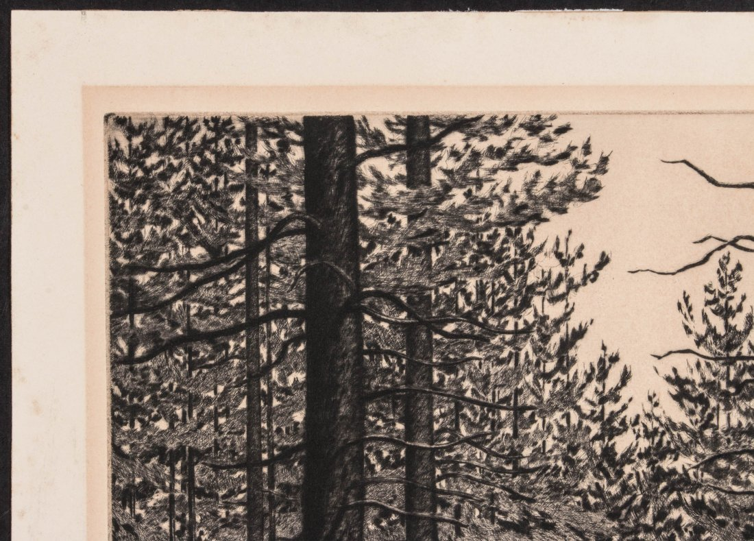 ALICE BUELL (1892-1964) PENCIL SIGNED ETCHING - 3