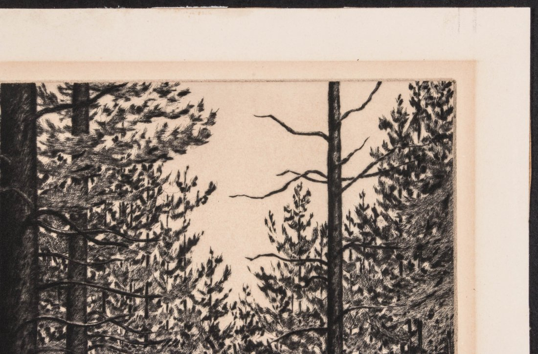 ALICE BUELL (1892-1964) PENCIL SIGNED ETCHING - 4