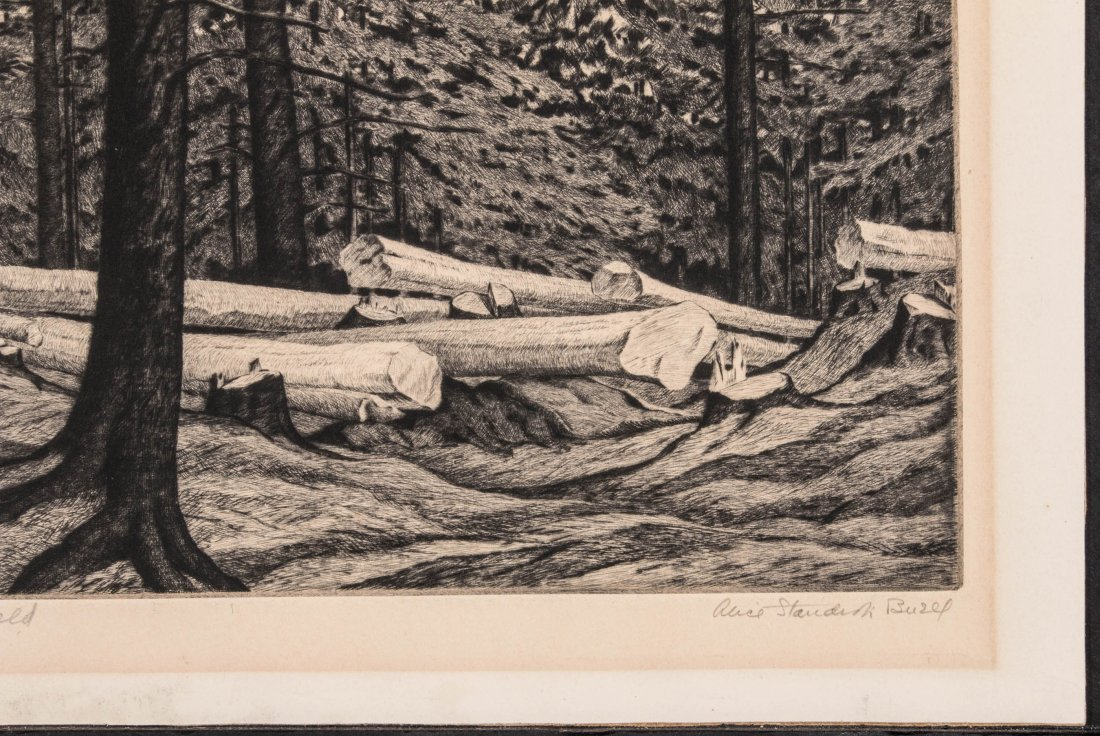 ALICE BUELL (1892-1964) PENCIL SIGNED ETCHING - 5
