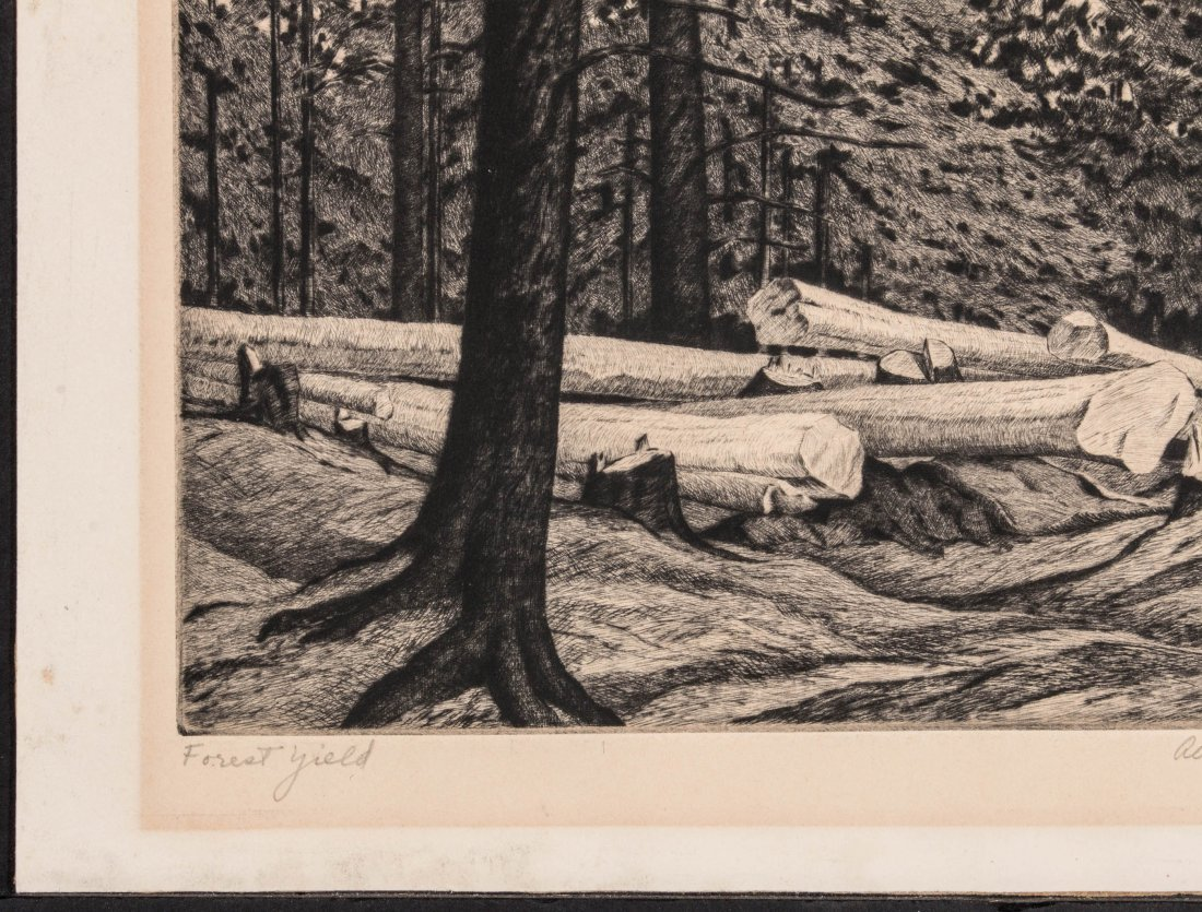 ALICE BUELL (1892-1964) PENCIL SIGNED ETCHING - 6