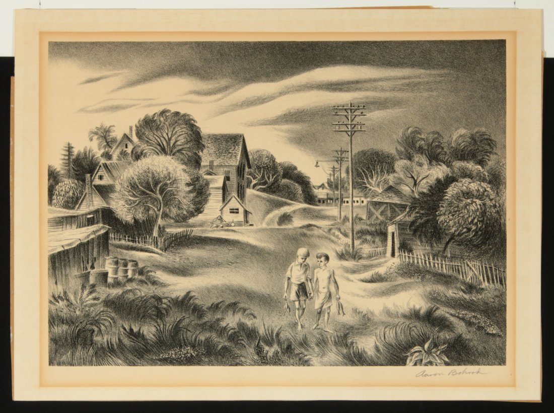 AARON BOHROD (1907-1992) PENCIL SIGNED LITHOGRAPH - 2