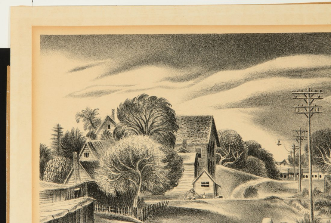 AARON BOHROD (1907-1992) PENCIL SIGNED LITHOGRAPH - 3