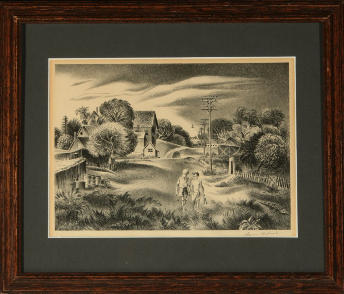 AARON BOHROD (1907-1992) PENCIL SIGNED LITHOGRAPH - 9