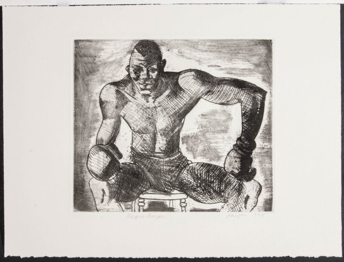 CLEMENT HAUPERS (1900-1982) PENCIL SIGNED ETCHING - 2