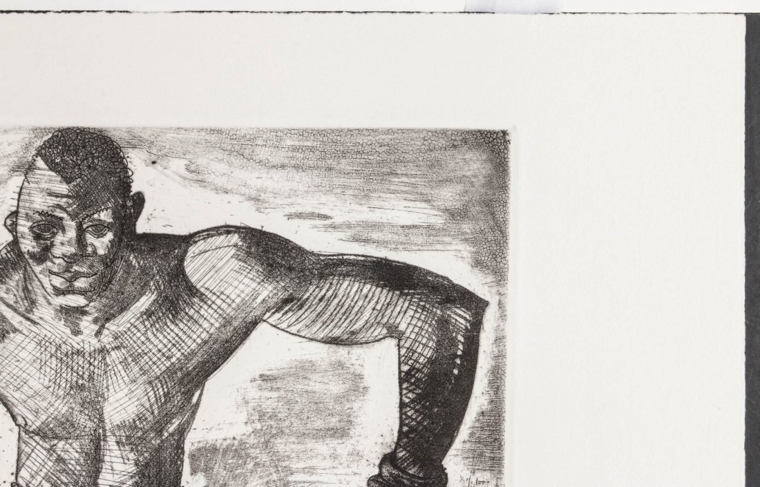CLEMENT HAUPERS (1900-1982) PENCIL SIGNED ETCHING - 4