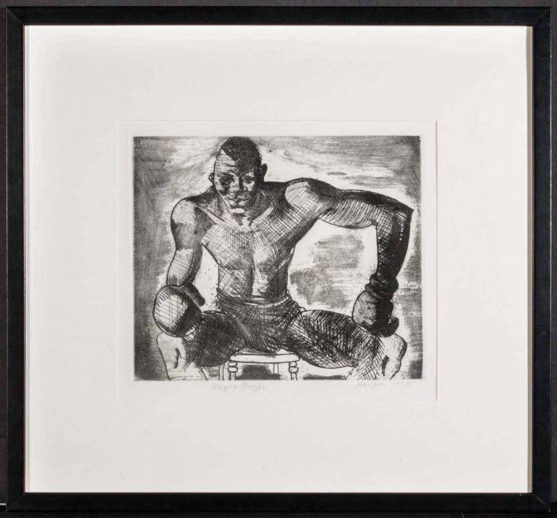 CLEMENT HAUPERS (1900-1982) PENCIL SIGNED ETCHING - 8