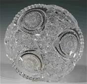 AN AMERICAN BRILLIANT PERIOD CUT GLASS DISH
