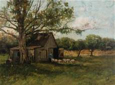 CHARLES PAUL GRUPPE (1860-1940) OIL ON CANVAS