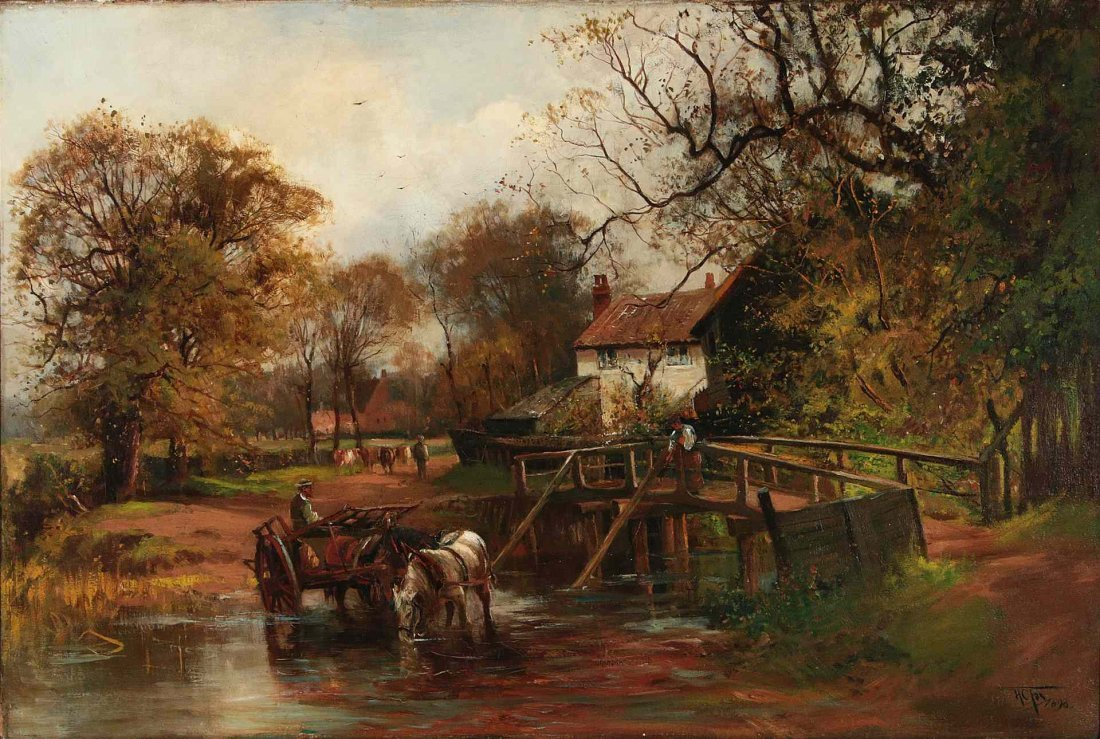 HENRY CHARLES FOX (1860-1925) OIL ON CANVAS