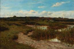 AN EARLY 20TH C. OIL ON CANVAS ATTR WALTER WITTER