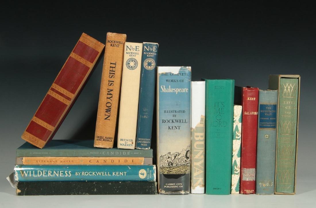 ROCKWELL KENT BOOK LOT, 15 VOLUMES