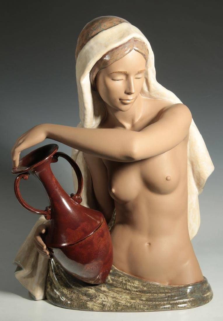 LLADRO 'SERENITY' PORCELAIN FIGURE WITH BOX
