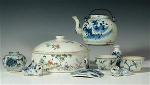 COLLECTION ANTIQUE CHINESE BLUE  WHITE PORCELAIN