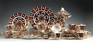 ROYAL CROWN DERBY 'OLD IMARI' SERVICE FOR EIGHT