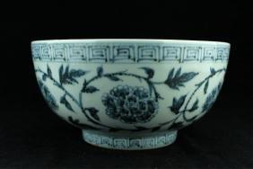 Large Chinese Ming Porcelain Blue&White Bowl