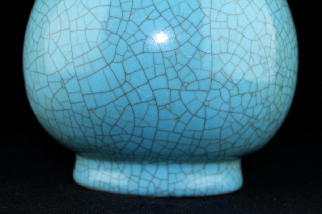 Large Chinese Song Porcelain Crackle Vase - 3
