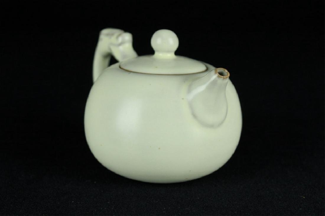 Chinese Song Porcelain DingYao Teapot - 2