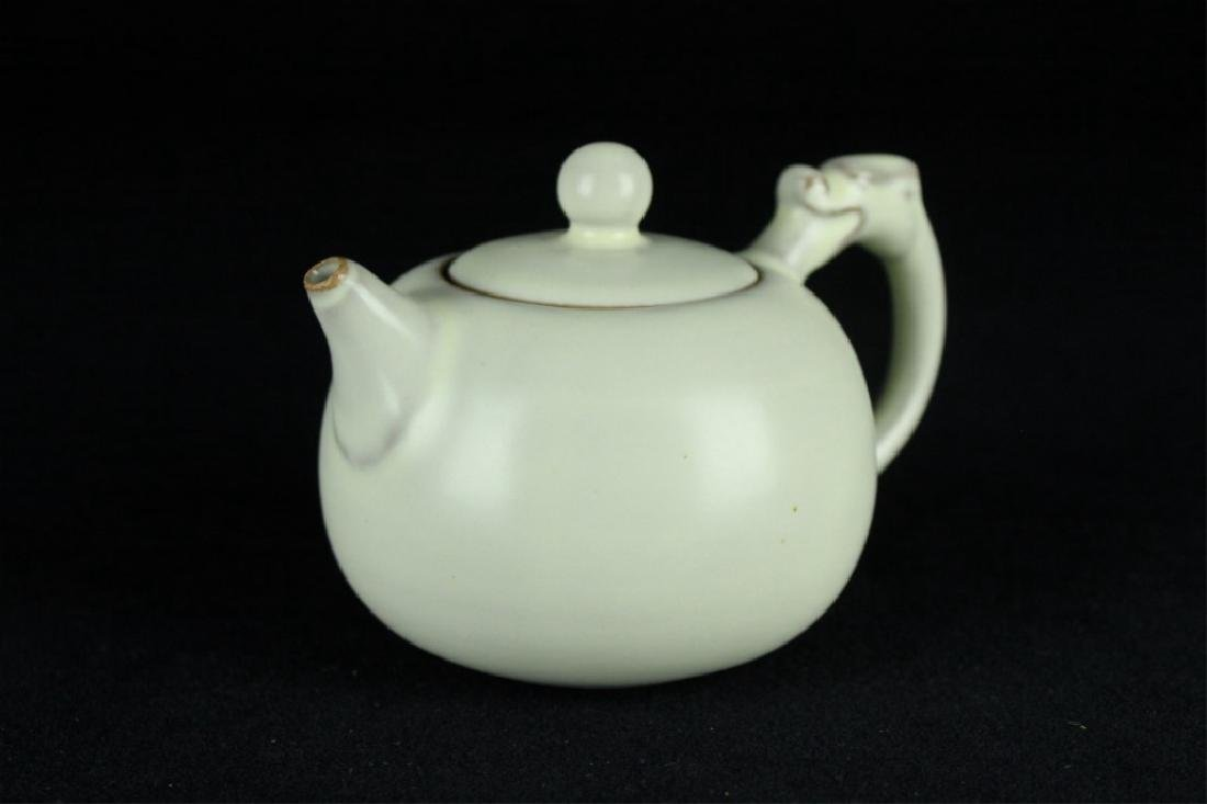 Chinese Song Porcelain DingYao Teapot - 4