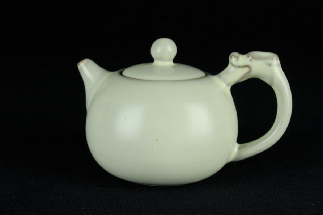 Chinese Song Porcelain DingYao Teapot - 5