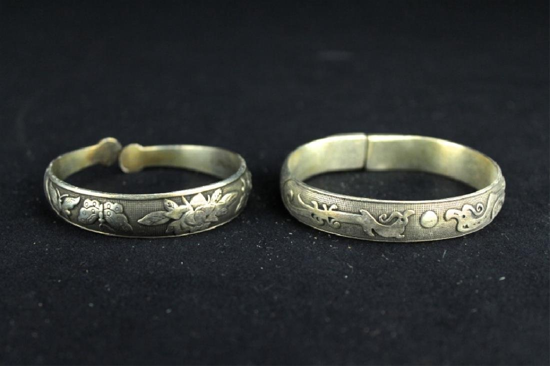 Two Chinese Silver Bracelet
