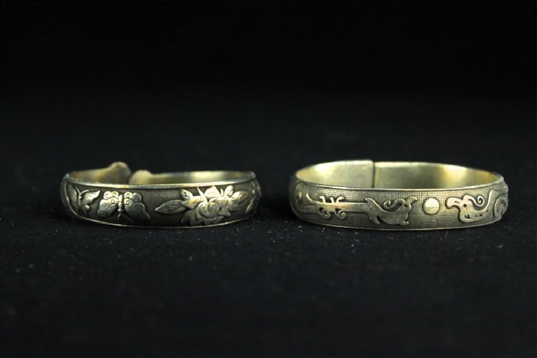 Two Chinese Silver Bracelet - 2