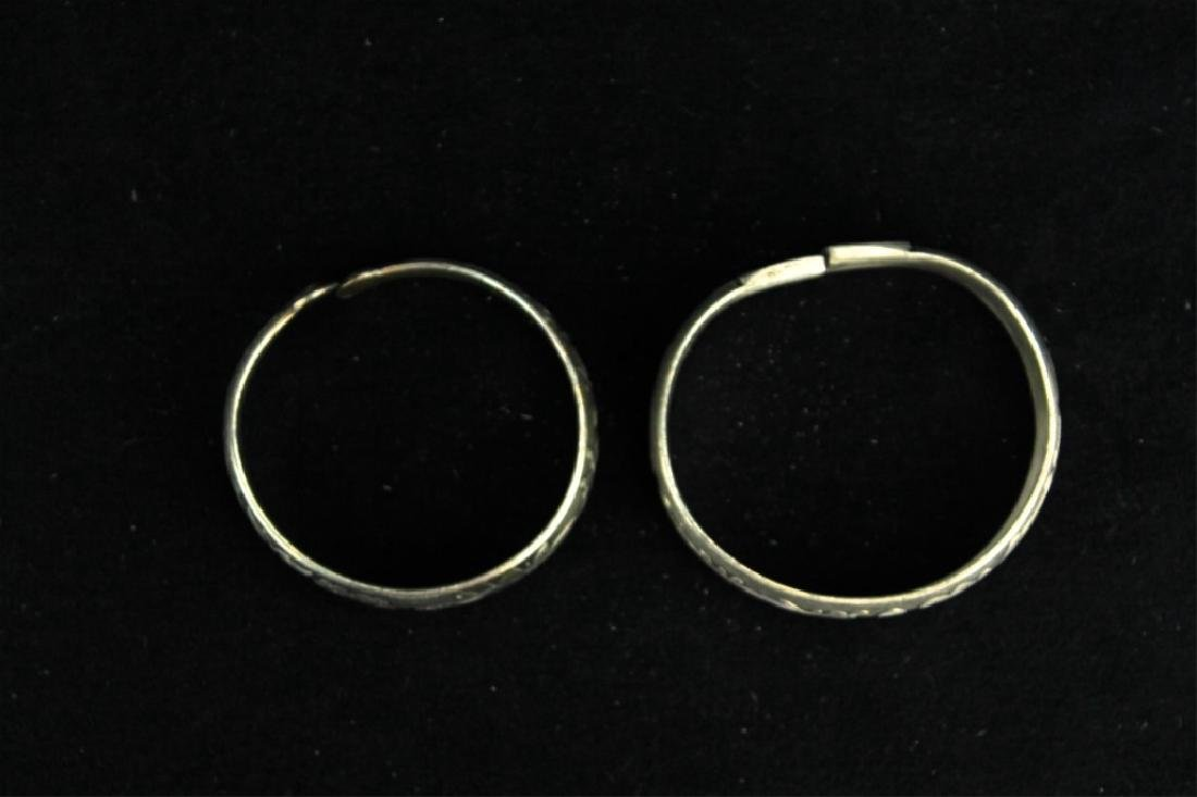 Two Chinese Silver Bracelet - 3