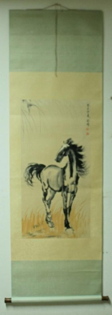 Chinese Scroll Painting Signed by Xue Bei Hong - 2