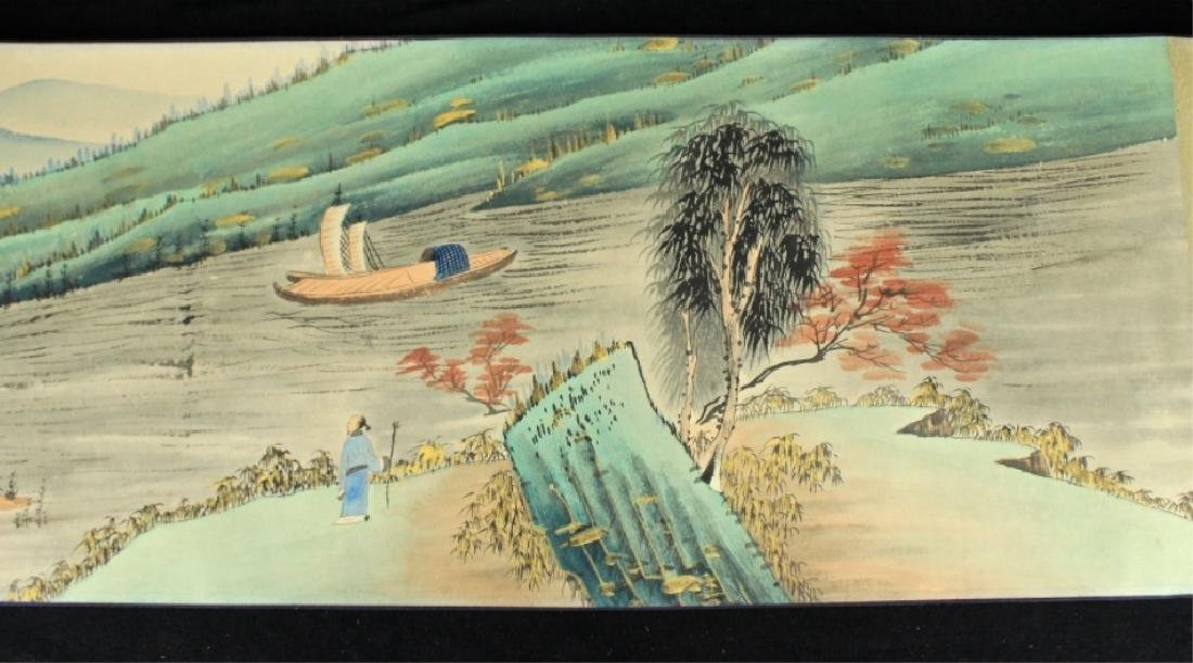 Chinese Long Scroll Painting Signed by Zhang Da Qi - 3
