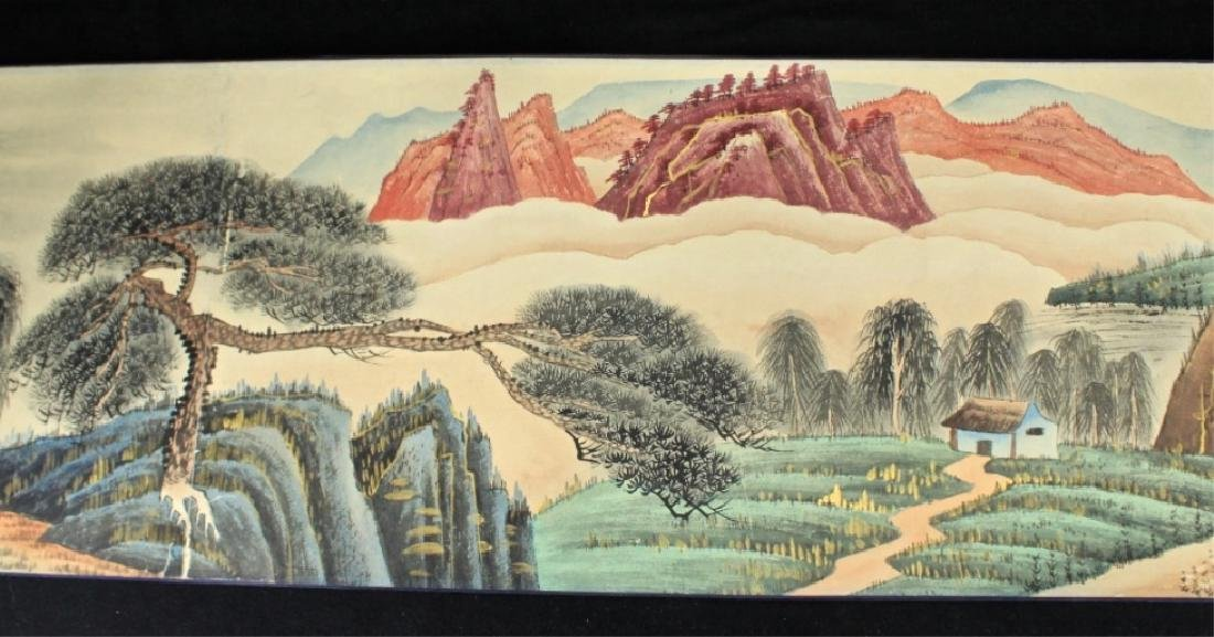 Chinese Long Scroll Painting Signed by Zhang Da Qi - 5