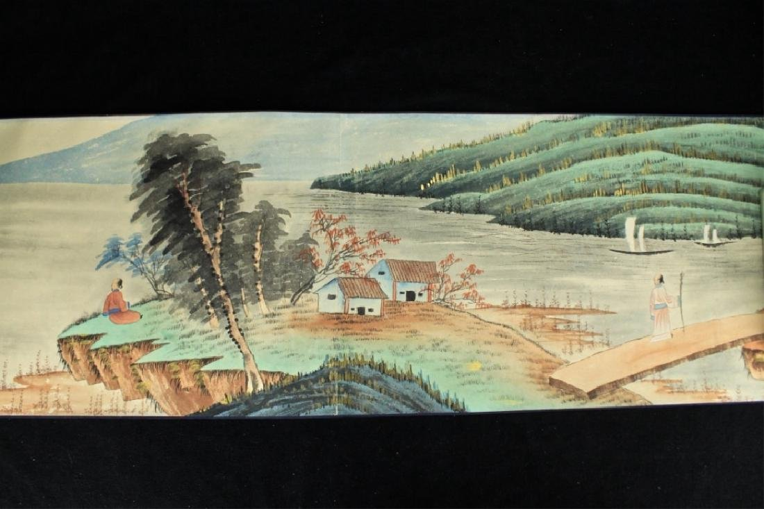 Chinese Long Scroll Painting Signed by Zhang Da Qi - 7
