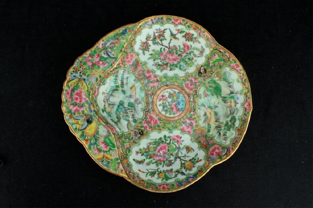 Chinese Qing Porcelain Export Famille Rose Plate