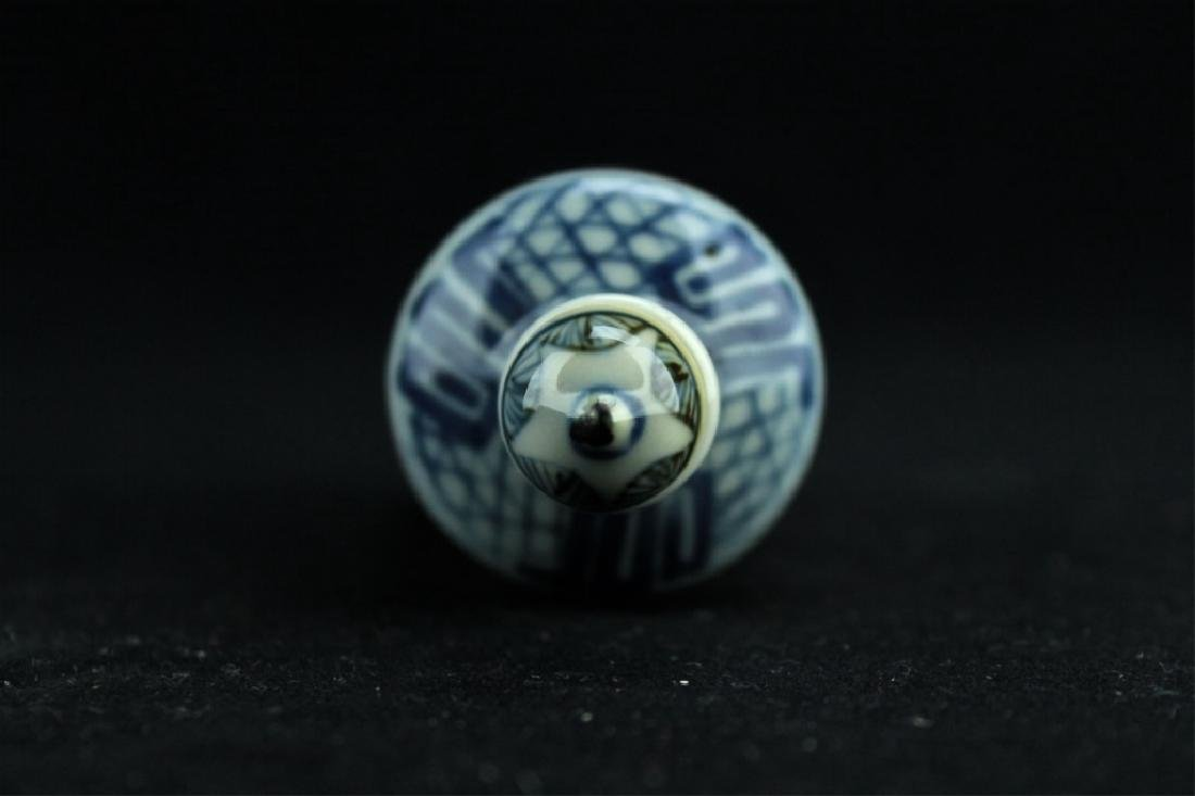 Chinese Qing Porcelain Blue&White Snuff Bottle - 4