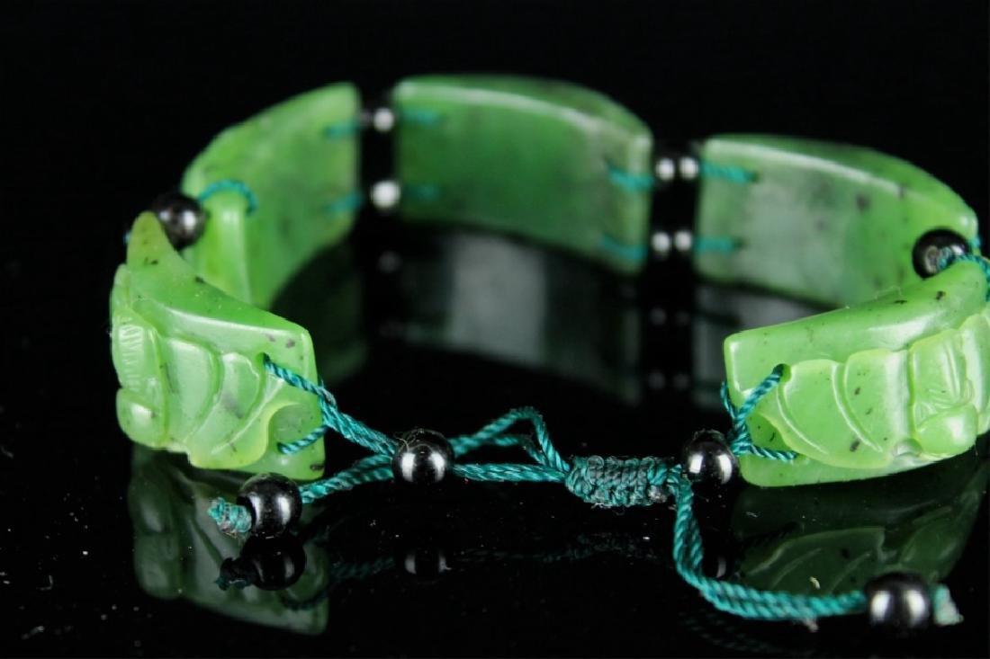 Natural Jade Bracelet - 4