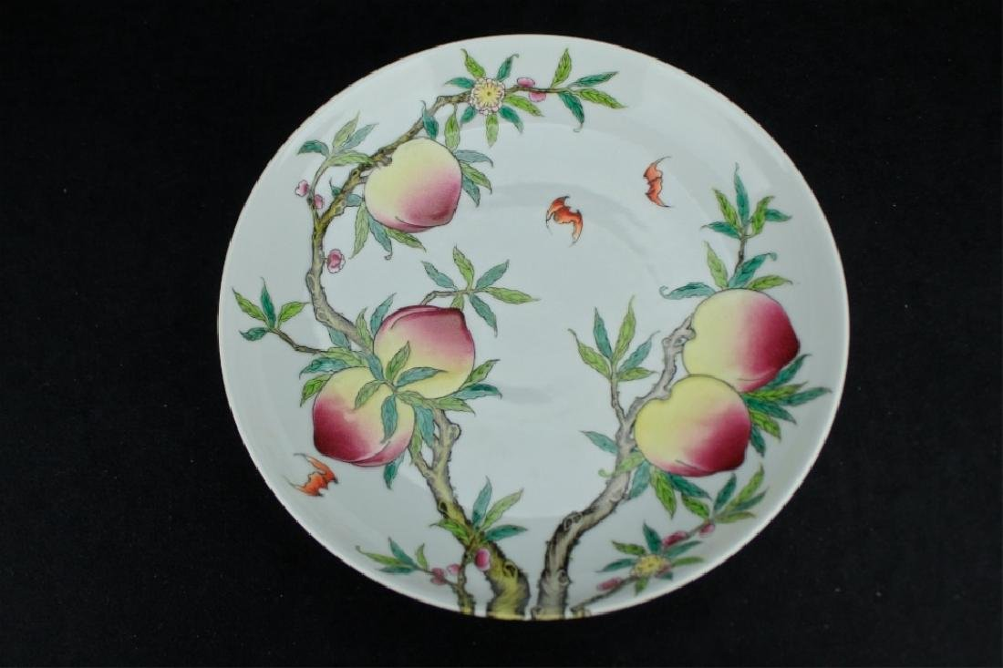 Chinese Qing Porcelain Peach Plate