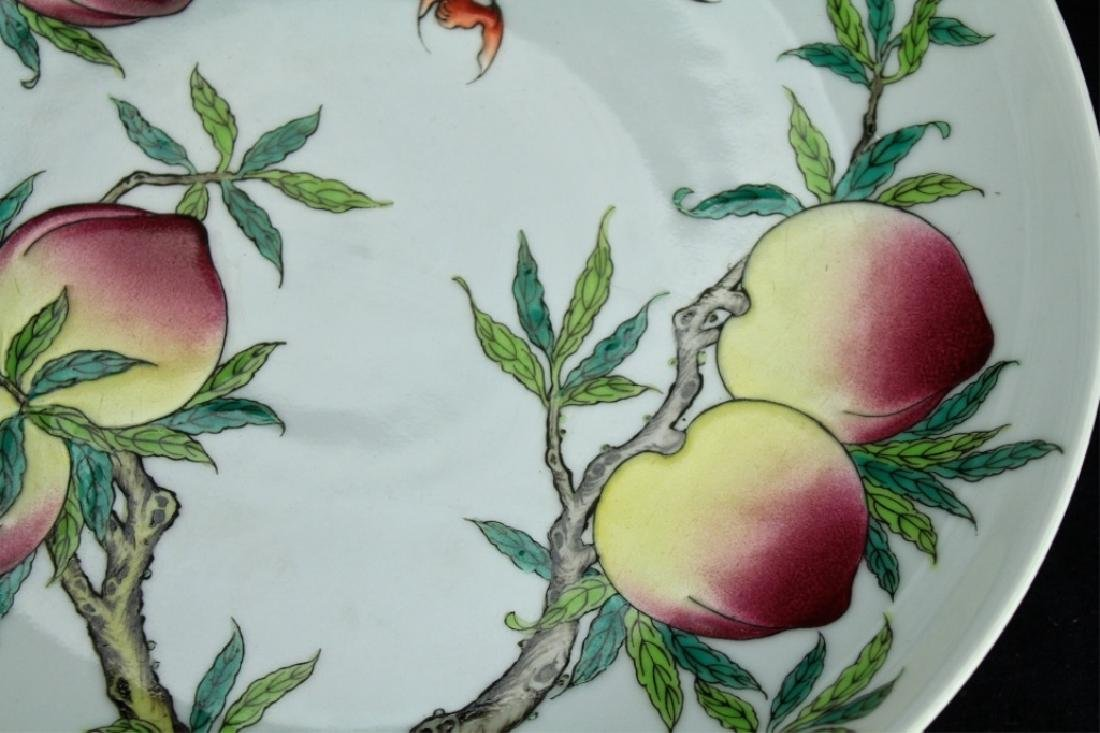 Chinese Qing Porcelain Peach Plate - 2