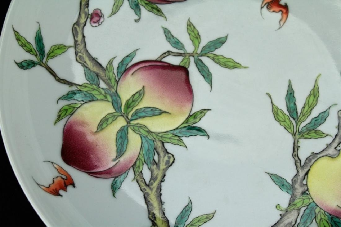 Chinese Qing Porcelain Peach Plate - 3