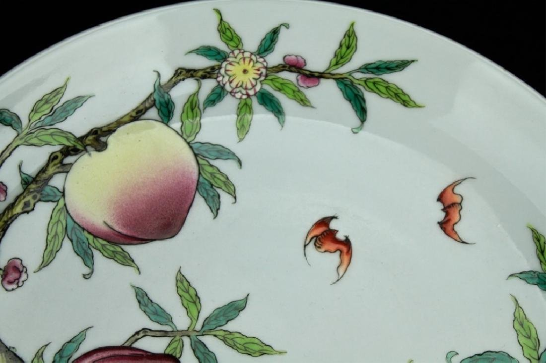 Chinese Qing Porcelain Peach Plate - 4